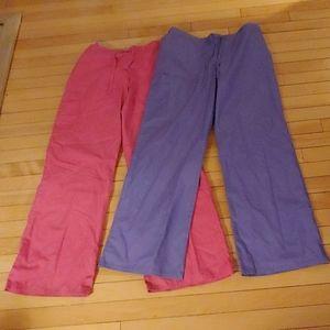 2 -pair medium SB scrubs scrub pants MEDIUM
